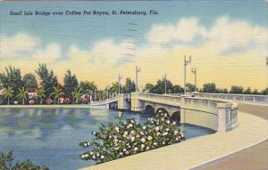 Snell Isle Bridge Over Coffee Pot Bayou St Petersburg Florida 1940 Curteich