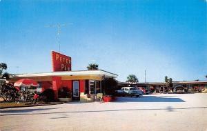 Daytona Beach Florida~Peter Pan Motel~Atlantic Avenue~Nice 1950s Cars~Postcard