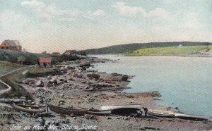 ISLE AU HAUT, Maine, 1900-1910s; Shore Scene, Boats