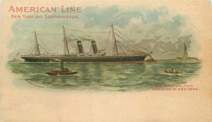 American Line New York Southampton private Mailing C-1905 Postcard 20-592