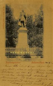 1900 Hungary Postcard: Kisfaludy-szobor Balaton-Füred