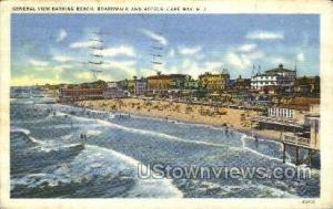General View Of Bathing Beach  Cape May NJ 1937 missing stamp