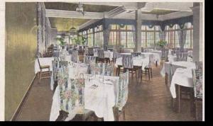 Pennsylvania Uniontown Summit Hotel Porch Dining Room 1936