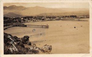 F55/ Bahia de Ensonada Mexico Foreign RPPC Postcard Bay Docks