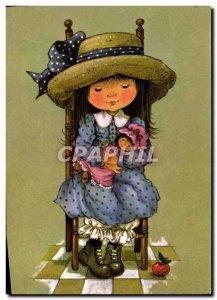 Postcard Modern Fun Children Doll