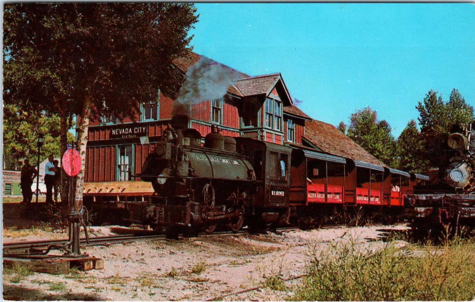 Nevada City Mt Montana Depot Alder Gulch Railroad C1960s Postcard Hippostcard