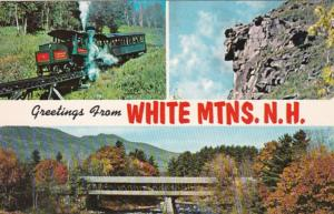 New Hampshire Greetings From White Mountains Multi View