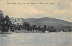 Lake George New York Fort William Henry Hotel Waterfront Antique Postcard K28492