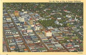 Linen Air View of Downtown Fresno California CA