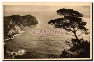 Old Postcard The islands of Porquerolles & # 39Hyeres Pointe of & # 39Oustaou...