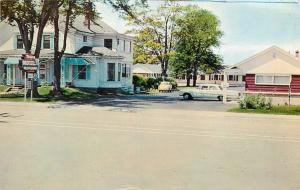 Postcard Glengarry Motel and Restaurant Truro Nova Scotia Canada old cars