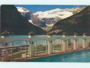 Pre-1980 TOWN VIEW SCENE Banff Alberta AB p9535