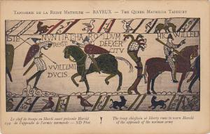 Bayeaux Queen Mathilda Tapestry Troop Chieftain Warns Harold of Norman Army's...