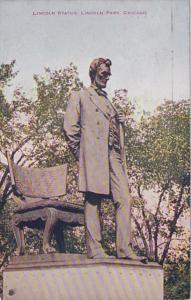Illinois Chicago Lincoln Statue Lincoln Park 1921