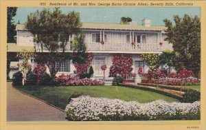Residence Of Mr And Mrs George Burns Beverly Hills California