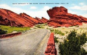 Colorado Denver Mountain Parks Siuth Ehtrance To Red Rocks