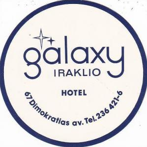 CYPRUS IRAKLIO GALAXY HOTEL VINTAGE LUGGAGE LABEL