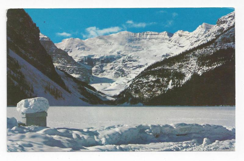 Canada Banff National Park Lake Louise Winter 1973 Postcard