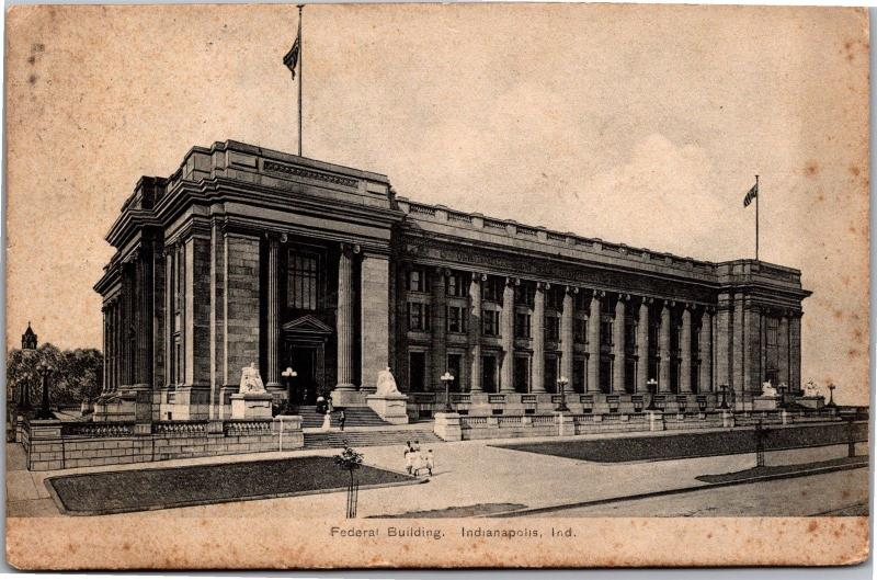 Federal Building, Indianapolis IN Vintage Postcard L05