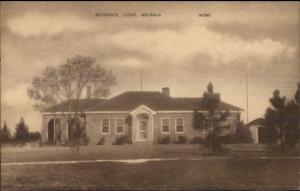Lyons GA Home c1940s Postcard