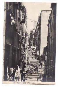 Italy Naples Gradoni S. Lucia Napoli Steps Stair RP Brogi