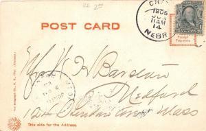C14/ Crete Nebraska Ne Postcard 1906 High School Building