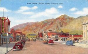 Brigham Utah Main Street Looking North Antique Postcard J53260