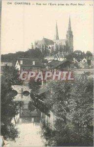 Postcard Old Chartres View Eure taken to the New Bridge