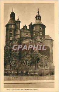 Old Postcard CASTLE MONTBELIARD