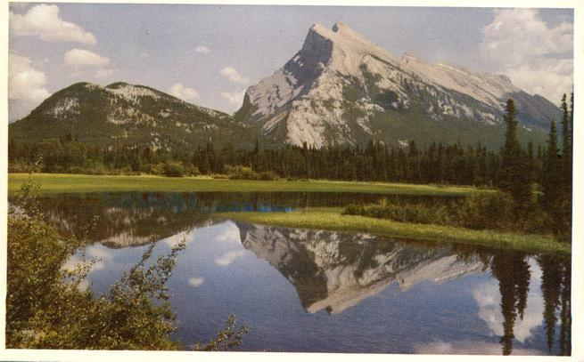 Mt Rundle from Vermillion Lake - Banff National Park AB, Alberta, Canada