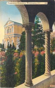 Washington DC~Franciscan Monastery~View through Pillar Arches~1910 Postcard