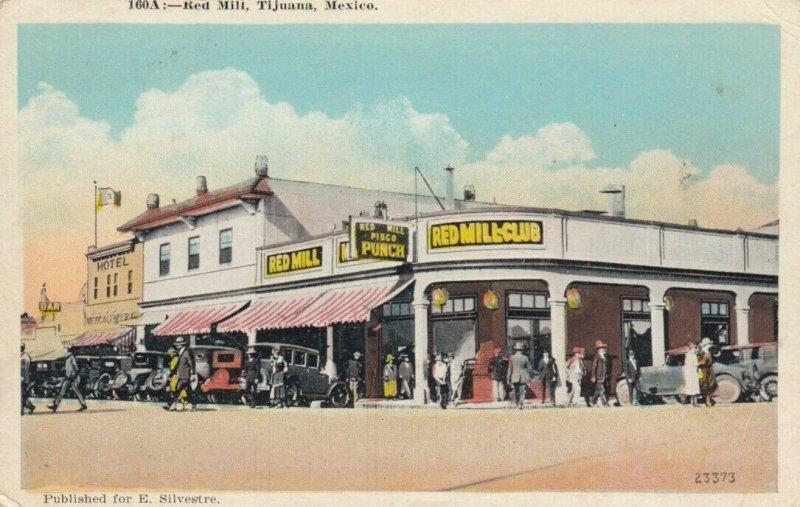 TIJUANA, Mexico, 1910-20s; Red Mill Club