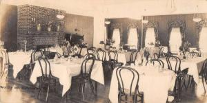 Manchester Vermont Worthy Inn Dining Room Real Photo Antique Postcard J42839