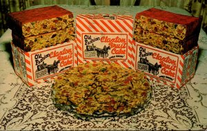 Georgia Claxton Old Fashioned Fruit Cake Claxton Bakery 1966