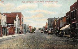 LP86  Cherokee   Iowa Postcard  Main St looking West view