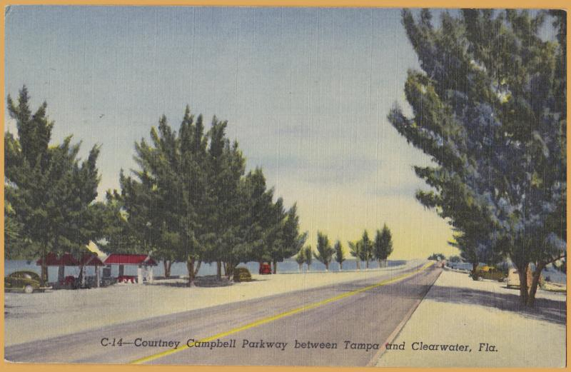 Clearwater, FLA., Courtney Campbell Parkway, Near Tampa U0026 Clearwater   1956