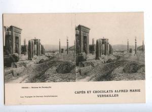 193158 IRAN Persia CHOCOLAT ADVERTISING Old stereo postcard