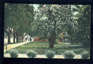 Pasadena, California/CA Postcard, View On East Colorado Street