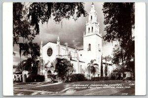 Winter Park FL~3 Tier Tower @ Knowles Chapel~Rollins College~RPPC 1940s