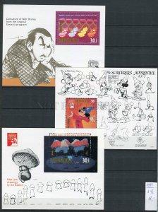 265675 MONGOLIA 1981 year MNH 3S/S WALT DISNEY mushrooms mouse