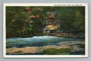 Big Springs State Park Van Buren MO Missouri Postcard