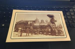 Large 5x7  Postcard: Laws Museum, Bishop CA Engine No 6 The Hawthorne