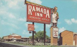 Exterior,  The Ramada Inn,  Amarillo,  Texas,  40-60s