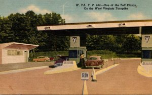 West Virginia Turnpike One Of The Toll Plazas Curteich