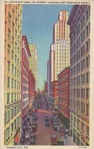 Missouri Kansas City Petticoat Lane Looking East From Main Street