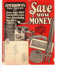 1930's Jim Browns Fall Prices plus Spring Paint Catalog