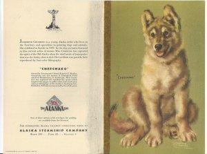 Alaska Line, S. S. BARANOF, March 28, 1949; Dinner Menu, Cheechako