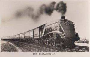 The Elizabethan Train At Retford Nottingham Antique Railway Real Photo Postcard