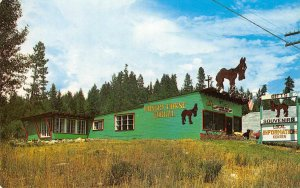 BLAKE'S HUNGRY HORSE CORRAL Montana US Highway 2 Roadside Shop Postcard ca 1950s