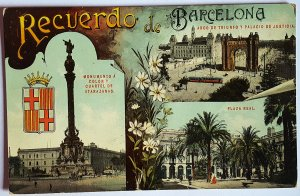 3 VINTAGE POSTCARDS GREETINGS FROM BARCELONA. DIFFERENT YEARS. UNUSED!!!